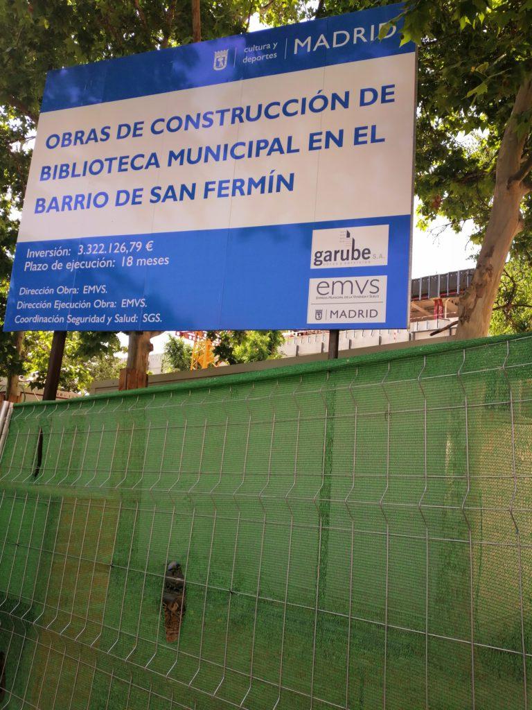 Así va la construcción de la biblioteca en el barrio San