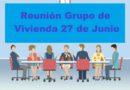 Reunión Grupo de Vivienda 27 de Junio